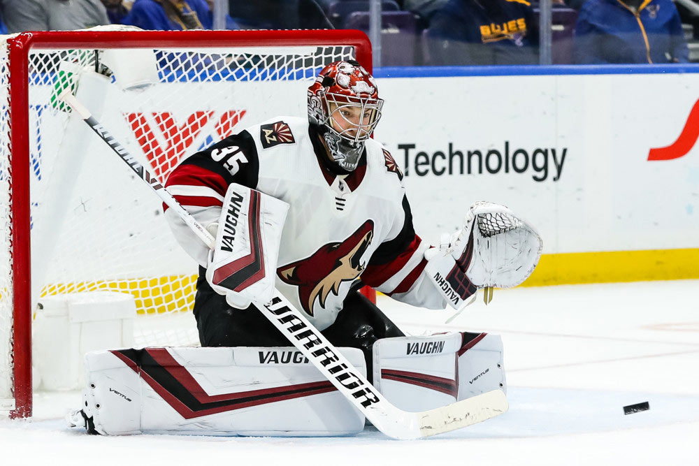 Coyotes-Still-Prowling-For-Playoff-Spot---Darcy-Kuemper-In-Goals