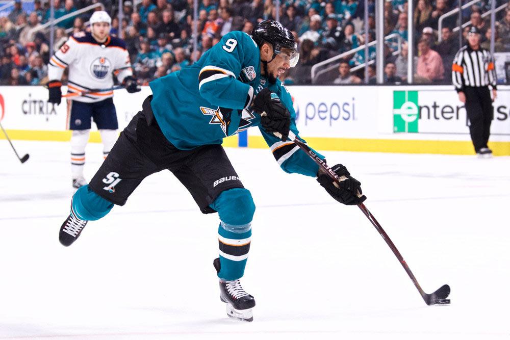 Evander-Kane-San-Jose-Sharks-Versus-Oilers
