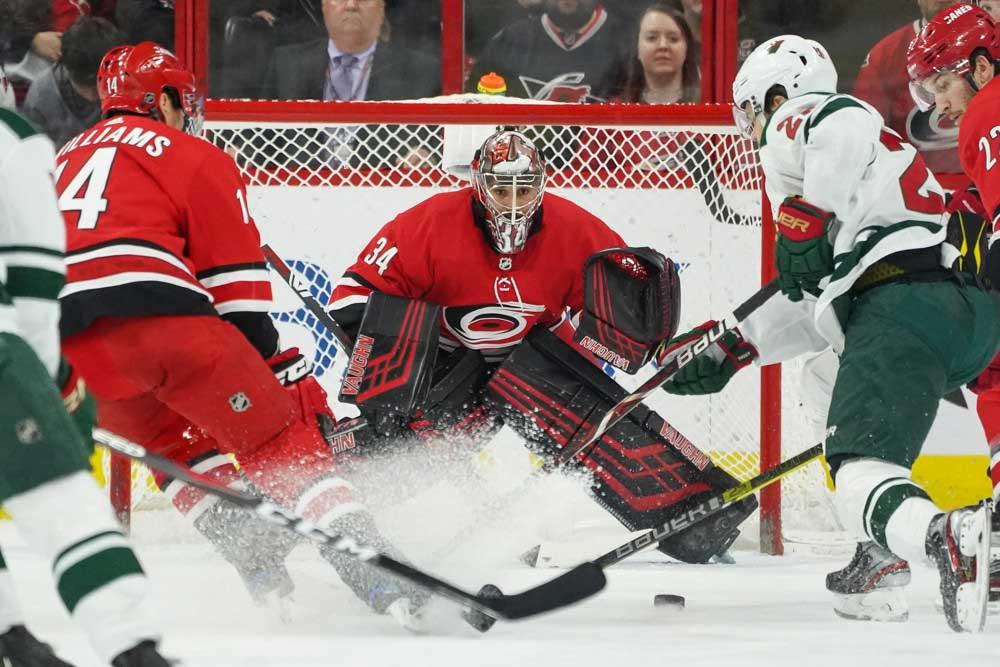 Unlikely-Goaltending-Duo-Helps-Snap-Hurricanes-Playoff-Drought